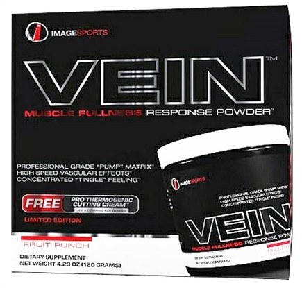 DROPPED: Image Sports - Vein Muscle Fullness Response Powder With Free Pro Thermogenic Cutting Cream Fruit Punch - 4.25 oz.
