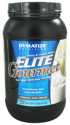 DROPPED: Dymatize Nutrition - Elite Gourmet Protein Whey & Casein Blend Powder Cookies & Cream - 2 lbs.
