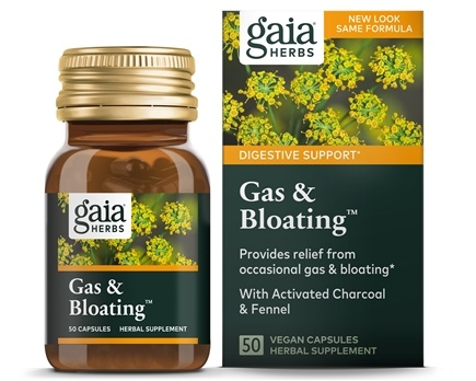 Gaia Herbs - Gas & Bloating - 50 Capsules
