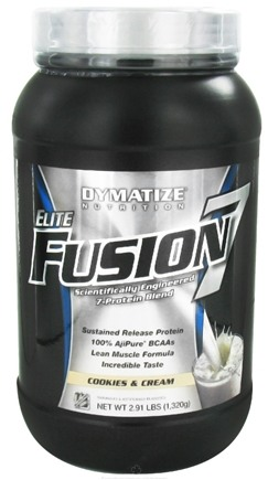 DROPPED: Dymatize Nutrition - Elite Fusion 7 Scientifically Engineered 7-Protein Blend Cookies & Cream - 2.91 lbs. CLEARANCE PRICED