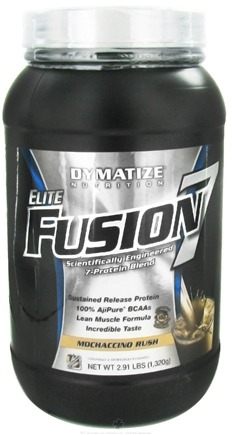 DROPPED: Dymatize Nutrition - Elite Fusion 7 Scientifically Engineered 7-Protein Blend Mochaccino Rush - 2.91 lbs. CLEARANCE PRICED
