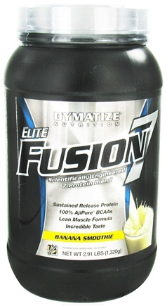 DROPPED: Dymatize Nutrition - Elite Fusion 7 Scientifically Engineered 7-Protein Blend Banana Smoothie - 2.91 lbs. CLEARANCE PRICED