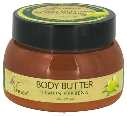DROPPED: Out Of Africa - Organic Shea Butter Body Butter Lemon Verbana - 7 oz. CLEARANCE PRICED