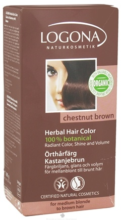 DROPPED: Logona - Herbal Hair Color 100% Botanical Chestnut Brown - 3.5 oz.