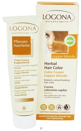 DROPPED: Logona - Herbal Hair Color Cream Copper Blonde - 5.1 oz. CLEARANCE PRICED