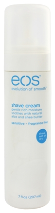 DROPPED: Eos Evolution of Smooth - Shave Cream Ultra Moisturizing Sensitive-Fragrance Free - 7 oz.