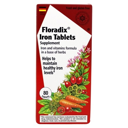 Zoom View - Floradix Iron Tablets