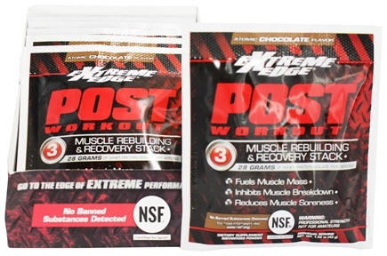 DROPPED: Extreme Edge - Post Workout Muscle Rebuilding and Recovery Stack Atomic Chocolate - 7 Packet(s)