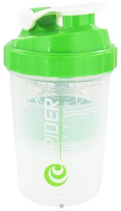 DROPPED: Spider Bottle - SpiderMix Mini2Go Shaker Bottle Clear Green - 25 oz.