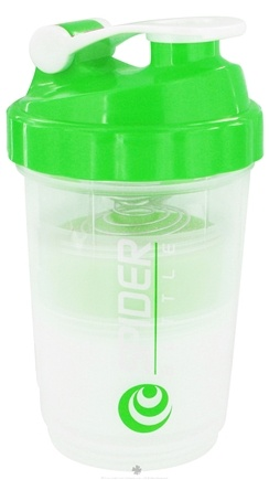 DROPPED: Spider Bottle - SpiderMix Maxi2Go Shaker Bottle Clear Green - 30 oz.