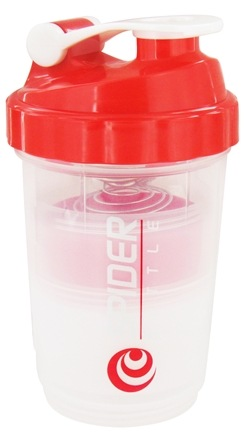 DROPPED: Spider Bottle - SpiderMix Maxi2Go Shaker Bottle Clear Red - 30 oz.