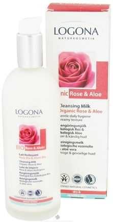 DROPPED: Logona - Cleansing Milk Organic Rose & Aloe - 4.2 oz. CLEARANCE PRICED