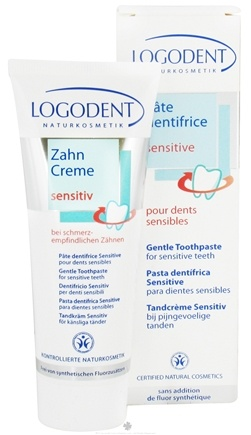 DROPPED: Logona - Logodent Gentle Toothpaste For Sensitive Teeth Fluoride Free - 2.5 oz. CLEARANCE PRICED