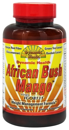 DROPPED: Dynamic Health - African Bush Mango with Irvingia Weight Management Formula - 60 Vegetarian Capsules