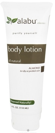 DROPPED: Alabu - Body Lotion for Dry or Problem Skin Almond - 4 oz. CLEARANCE PRICED