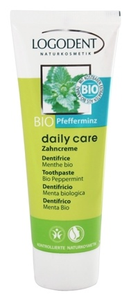 Logona - Logodent Toothpaste Fluoride Free Organic Peppermint - 2.5 oz.