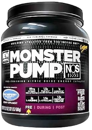 DROPPED: Cytosport - Monster Pump Pre-Training Nitric Oxide Energy Catalyst Blue Raspberry - 16.1 oz.