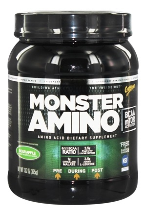 DROPPED: Cytosport - Monster Amino BCAA Ultimate Amino Acid Formula Sour Apple - 13.2 oz. CLEARANCE PRICED
