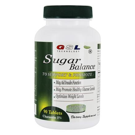 GSL Technology - Sugar Balance Diabetic Supplement - 90 Vegetarian Tablets