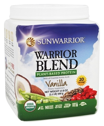 Sunwarrior - Warrior Blend Plant-Based Protein Vanilla - 17.6 oz.
