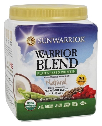 Sunwarrior - Warrior Blend Plant-Based Protein Natural - 17.6 oz.