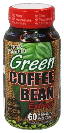 DROPPED: Fusion Diet Systems - Green Coffee Bean Extract 800 mg. - 60 Vegetarian Capsules