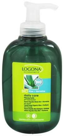 DROPPED: Logona - Daily Care Liquid Soap Organic Aloe + Verbena - 10.2 oz. CLEARANCE PRICED