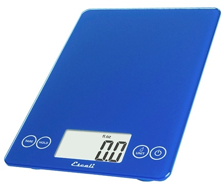 Escali - Arti Glass Digital Food Scale 157EB Electric Blue