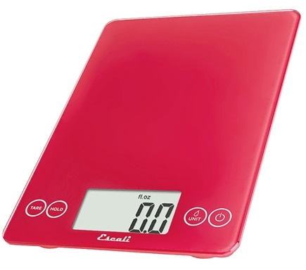 Escali - Arti Glass Digital Food Scale 157RR Retro Red