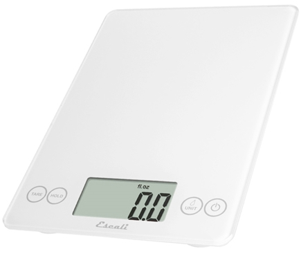 Escali - Arti Glass Digital Food Scale 157W Crisp White