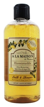 A La Maison - Traditional French Milled Bath & Shower Liquid Soap Honeysuckle - 16.9 oz.