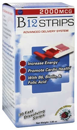 Essential Source - B12 Strips Advanced Delivery System Winter Berry 2000 mcg. - 30 Strip(s)