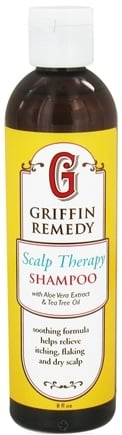DROPPED: Griffin Remedy - Scalp Therapy Shampoo with Aloe Vera Extract and Tea Tree Oil - 8 oz.