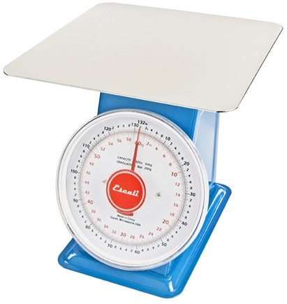 Escali - Mercado Dial Scale With Plate 132 lbs. Capacity DS13260P