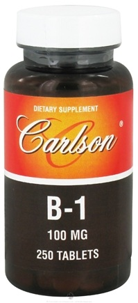 DROPPED: Carlson Labs - Vitamin B1 100 mg. - 250 Tablets CLEARANCE PRICED