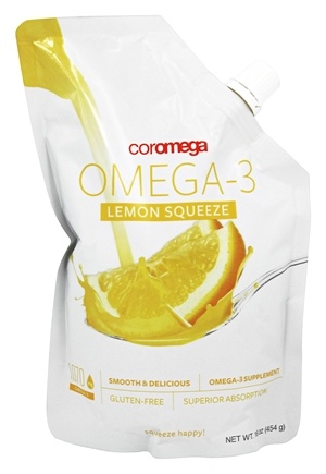 DROPPED: Coromega - Omega-3 Lemon Squeeze - 16 oz.