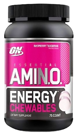 DROPPED: Optimum Nutrition - Essential AmiN.O. Energy Chewables Raspberry Tangerine - 75 Chewables