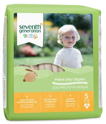 DROPPED: Seventh Generation - Free and Clear Baby Diapers Stage 5 (27+ lbs.) - 23 Diaper(s)