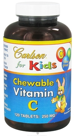 DROPPED: Carlson Labs - Kids Chewable Vitamin C 250 mg. - 120 Chewable Tablets