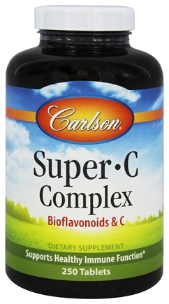 DROPPED: Carlson Labs - Super-C-Complex Bioflavonoids and C - 250 Tablets CLEARANCE PRICED
