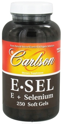 DROPPED: Carlson Labs - E-Sel Vitamin E + Selenium - 250 Softgels CLEARANCE PRICED