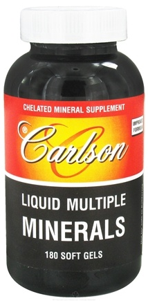 DROPPED: Carlson Labs - Liquid Multiple Minerals - 180 Softgels