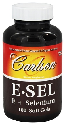 DROPPED: Carlson Labs - E-Sel Vitamin E + Selenium - 100 Softgels