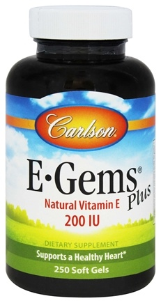 Carlson Labs - E Gems Plus Natural Vitamin E 200 IU - 250 Softgels