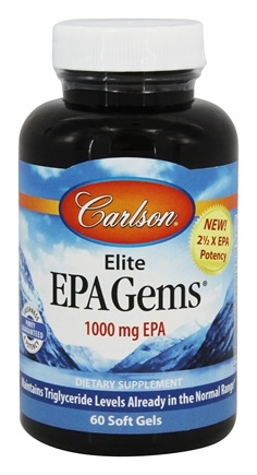 Carlson Labs - Elite EPA Gems 1000 mg. - 60 Softgels