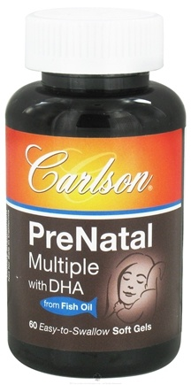 DROPPED: Carlson Labs - PreNatal Multiple with DHA from Fish Oil - 60 Softgels CLEARANCE PRICED