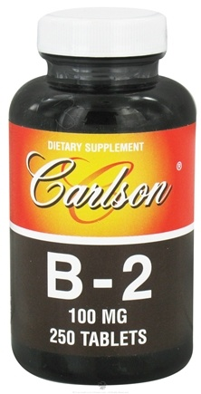 DROPPED: Carlson Labs - Vitamin B2 100 mg. - 250 Tablets CLEARANCE PRICED