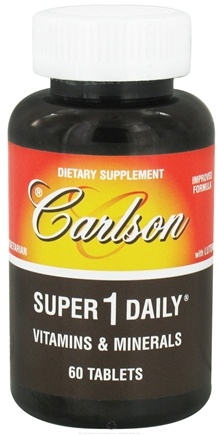 DROPPED: Carlson Labs - Super 1 Daily Vitamins & Minerals - 60 Tablets CLEARANCE PRICED