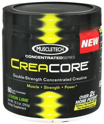 DROPPED: Muscletech Products - CreaCore Concentrated Series Double-Strength Concentrated Creatine Lemon Lime - 10.3 oz. CLEARANCE PRICED