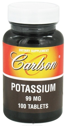 DROPPED: Carlson Labs - Potassium 99 mg. - 100 Tablets CLEARANCE PRICED
